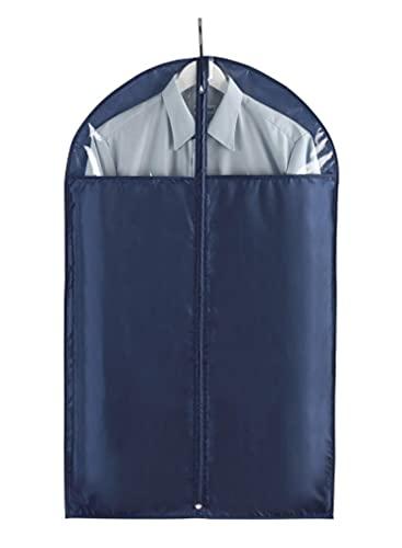 WENKO Kleidersack Business 100 x 60 cm - Kleiderhülle, sicherer Schutz, Aufbewahrung für Anzüge und Kleider, Polyester, 60 x 100 cm, Dunkelblau