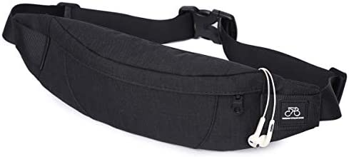 Black Small Fanny Pack for Men Women Plus Size Waist Waterproof for Cell Phone Gym Outdoor Fashion product image