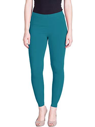Lux Lyra Women's Skinny Fit Ankle Leggings (111_FS, Aqua Blue, Free Size)
