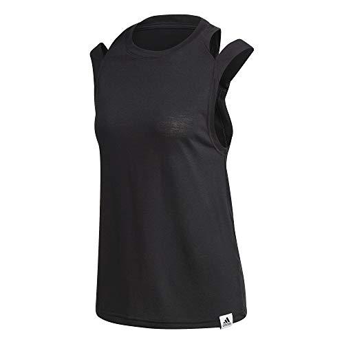 adidas W BB TK, Canottiera Sportiva Donna, Black, M