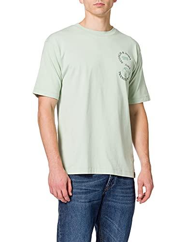 Scotch & Soda Herren Grafik aus Bio-Baumwolle T-Shirt, Sea Foam 2833, XL