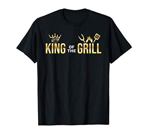 Rey De La Parrilla Chef De Barbacoa Hombres Regalo Barbacoa Camiseta