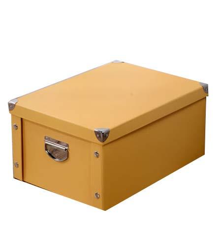 LHY SAVE Cajas De Cartón Caja De Almacenaje con Tapa Y Metal Asa,Fácil De Ensamblar, para Regalo, Almacenamiento En El Hogar,...