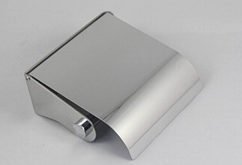 28314-6 SUS304 - Portarrollos de papel higiénico con tapa, acero inoxidable 18/8