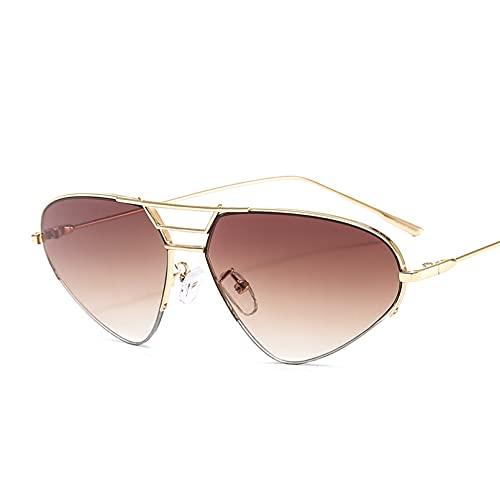 DAIDAICDK Gafas de Sol para Mujer Gafas de Sol con Montura metálica de Ojo de Gato Gafas de Sol para Hombre Gafas graduadas Accesorios para Coche al Aire Libre
