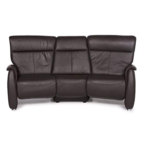 Himolla Leather Sofa Brown Three Seater