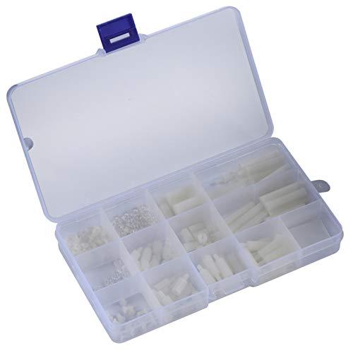 Schraubensatz, transparente Box Kunststoffschraubensatz, hochpräzise 210 Stück für die Montage von Leiterplatten Anfänger Home Office