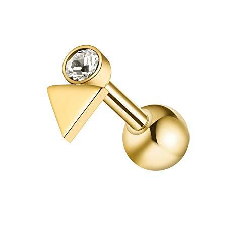Jeweled kleine driehoek 16 gauge chirurgisch stalen kraakbeen helix tragus oorpiercing sieraden