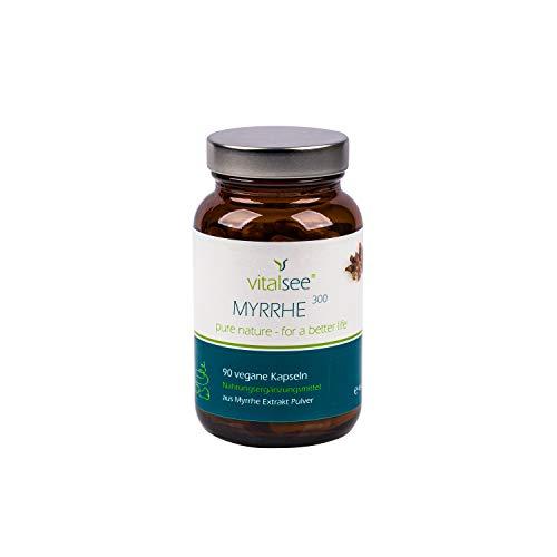 MYRRHE 300 Extrakt, 90 vegane Kapseln mit hochdosiertem Myrrhe Extrakt Pulver