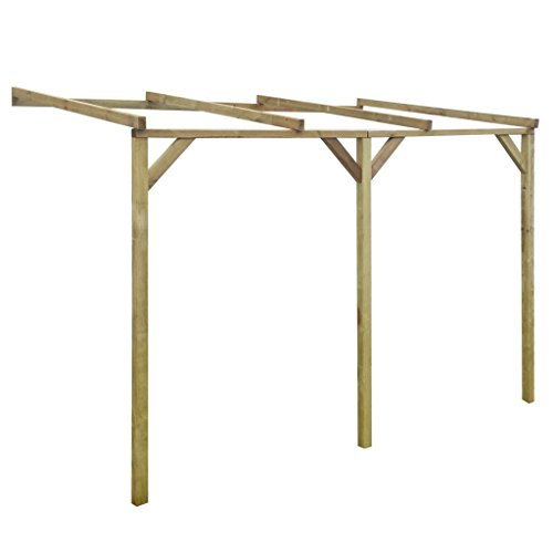 Festnight Hölzerne Anlehn-Pergola Pergola Terrassendach Terrassenüberdachung aus Holz für Wandanbau 200 x 300 x 220 cm