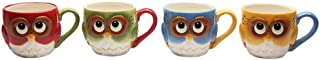 Cosmos Gifts 10913 Owl Mugs, 2-3/4-Inch, Set of 4