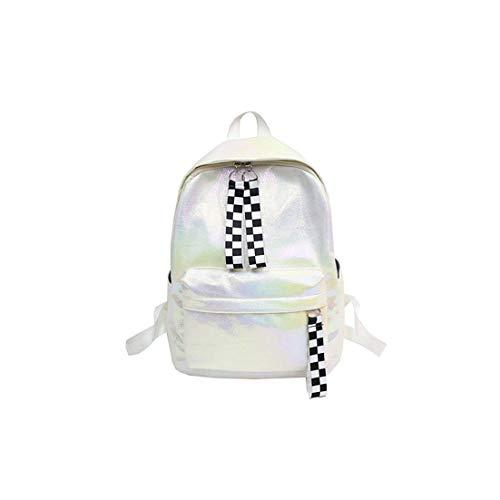 Special Shine-Shop Rucksack aus PU-Leder für Damen, lässig, große Kapazität, Schule und Mädchen, Weiá (weiß), Einheitsgröße