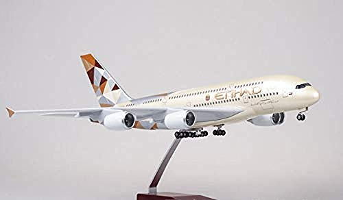NUOYAYA Druckguss Flugzeug Metall Flugzeug Modelle Flugzeugspielzeug Kit Etihad Airbus A380 Passagier 380 Handwerk Retro Metall Souvenir Wohnkultur Ornament Spielzeug Airbus