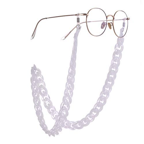 TEAMER Moda colorido gafas cadena de gafas de sol bohemio acrílico áspero giro Sunglass correa para las mujeres