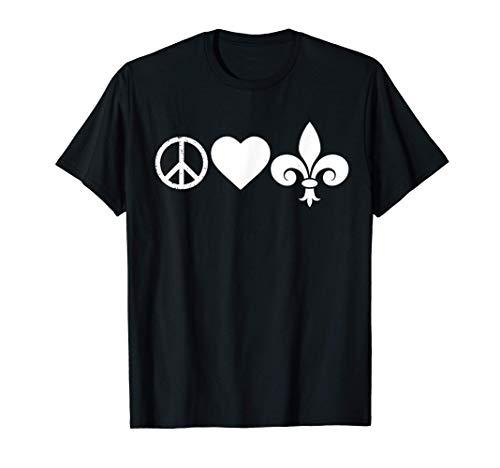 Partido de la paz del amor carnaval flor de lis Camiseta