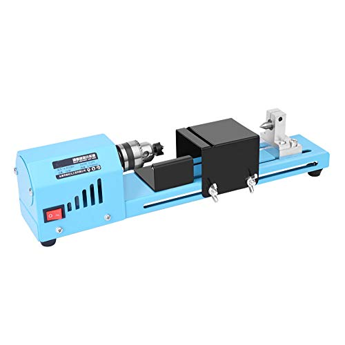 Lowest Price! Mini Lathe Beads Polisher Machine, 7000RPM 12-24V DC, 7 Level Adjustable DIY Lathe, fo...