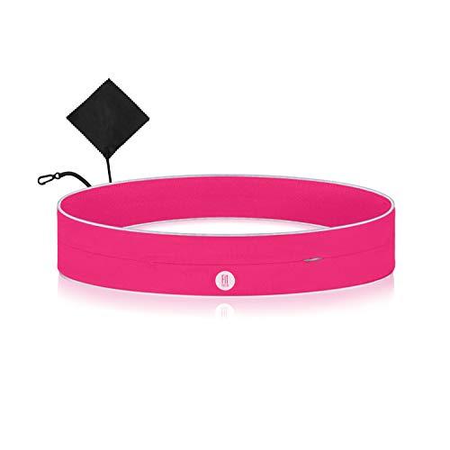 FitFeelsFun Sportbelt FFF - Cinturón deportivo con cremallera, color rosa