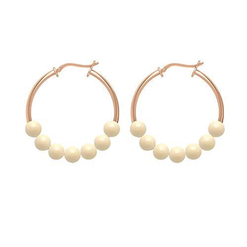 Rosec Jewels 585 oro rosa redonda Perla de cultura japonesa