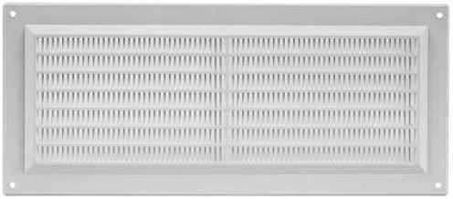 Cubierta para rejilla de ventilación de plástico, 130 mm x 300 mm, color gris