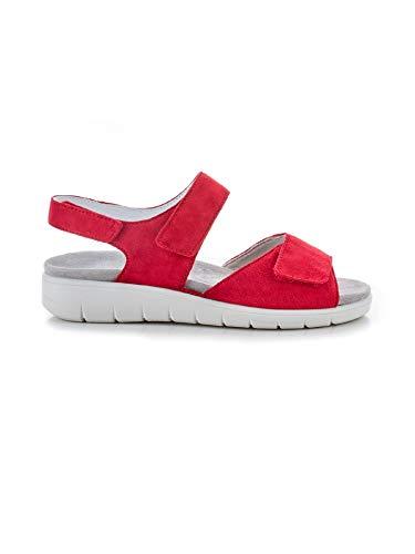 Avena Damen Hallux-Sandale Fußfreiheit Rot Gr. 37