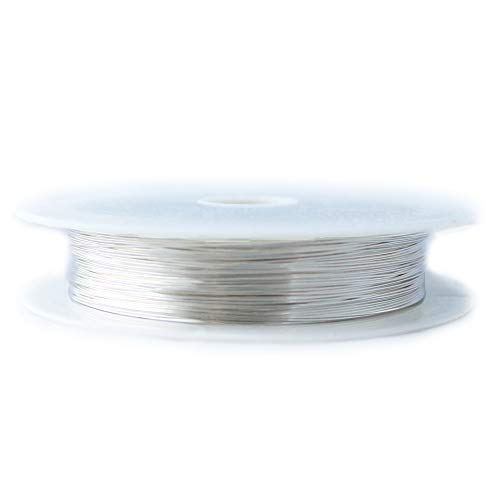 1 Ounce (76 Ft) 925 Sterling Silver Wire 26 Gauge, Round, Half Hard - from Craft Wire