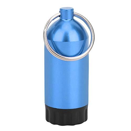 AMONIDA Borraccia per bombola da Immersione in Lega di Alluminio 5,8 x 2,2 cm, con 12 o-Ring o-Ring per bombola da Immersione, bombola per bombola da Immersione, Nuoto per Immersione(Blue)