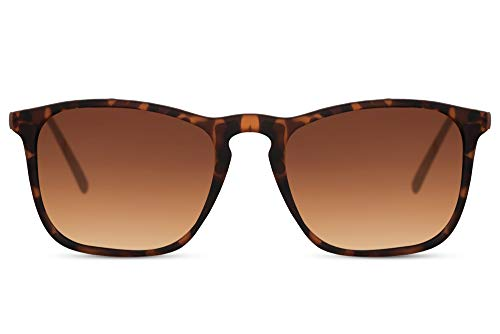 Cheapass Sonnenbrille Fesch Sportlich Style Metall Bügel Matt Leopard Rahmen und braune Gläser 100% UV Männer