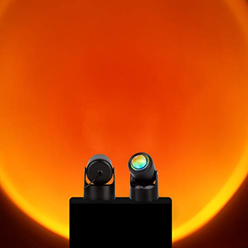 Sunset lamp Sunset Projector LED Projection Night Lights for Living Room Bedroom Hotel Restaurant...
