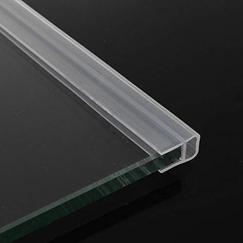 ZKDY 2M 612Mm F U H Forma puerta de vidrio sellado de las tiras de caucho de silicona de cristal de ventana Seal Strip pantalla Bath Puerta Weatherstripu 12mm Forma para T 12mm Forma