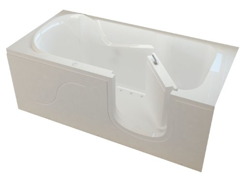 Meditub MISI3060RWA Step In 30 by 60 by 22-Inch Air Jetted Bathtub Spa Right Side Door, White