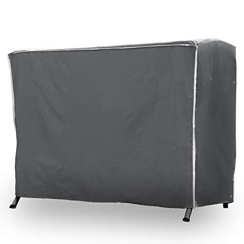 Purovi® Premium Schutzhülle für Hollywoodschaukel | Abdeckung für Gartenschaukel | Oxford Gewebe | Wetterschutz | Wasserdicht | Universal passend 210 x 150 x 150 cm