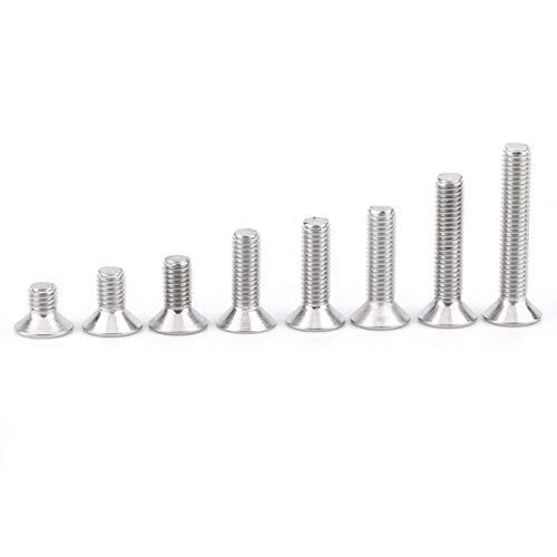 Pernos de, 160pcs Hex Socket Tornillos, Invenciones para la Reparación de Muebles para Maquinaria (Avellanado Hexagonal Socket)
