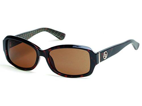 Guess GU 7410 Gafas de sol, Marrón (Dark Havana/Brown), 55 para Mujer