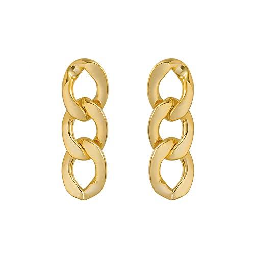 S925 aguja de plata personalidad ins pendientes retro temperamento simple geométrico anillo retorcido pendientes de metal pendientes de moda