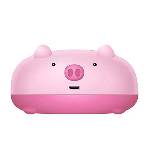 ミニポケット豚形のサーマルプリンタトラベルワイヤレスインクレスポケットプリンタビルトイン1000mA充電式バッテリーを組み込んで写真メモのショッピングリスト (Color : Pink)