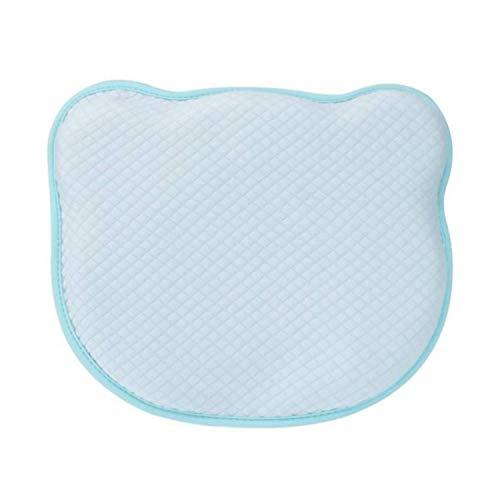HuBorns - Cojín para Bebé para Prevención de Plagiocefalia, Almohada Desenfundable para Prevenir y Curar la Cabeza Plana de Bebés Recién Nacidos. Dos Fundas de Regalo Azul + Blanco.