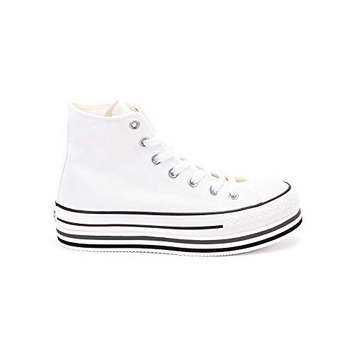 Converse Ginnica Ctas Platform Layer Hi White/Black Donna MOD. 564485C White/Black/Thunder 41