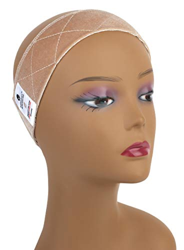MainBasics Adjustable Velvet Wig Grip Band (Beige)