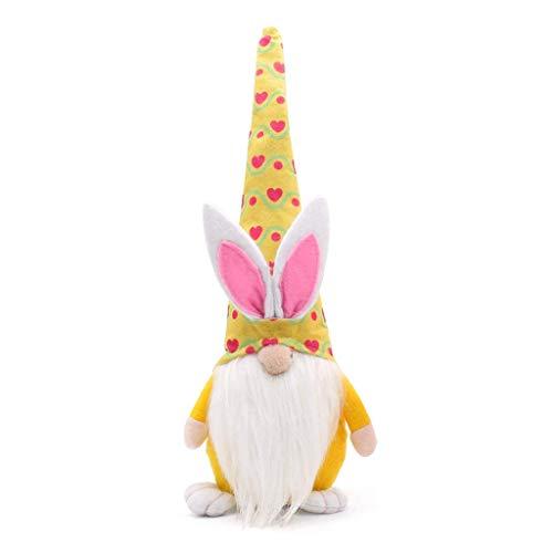 PTMD Gnomo de Pascua de conejo decoración de Pascua sin rostro muñeca de Pascua de felpa enana decoración de fiesta para el hogar juguetes de los niños