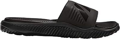 adidas Men's Alphabounce Slide Sport Sandal, Black/Black/Black, 12 M US
