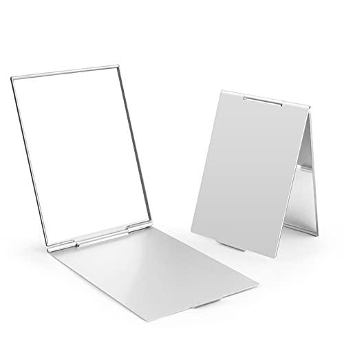 Chytaii Miroir de Poche Maquillage Portable Pliable Mini Ultra-Léger Couleur Aléatoire 1pc