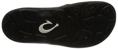 OLUKAI Men's Kipi Dark Wood/Dark Wood 8 Flip Flops