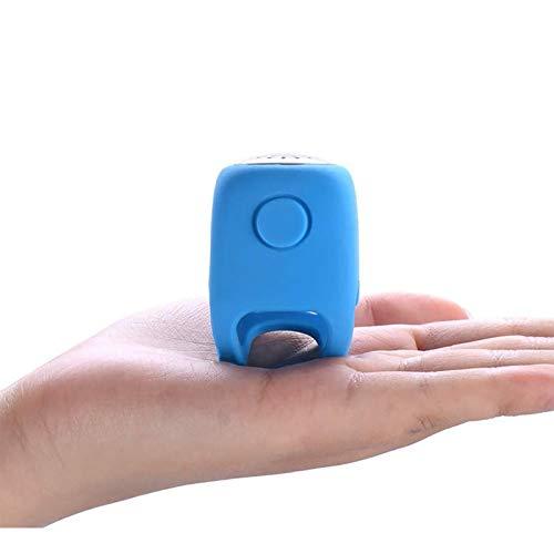 HUI JIN Timbre eléctrico para bicicleta 90bb impermeable electrónica soporta tres tipos de azul