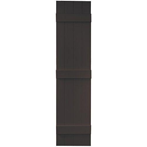 Vantage 8214063046 14X63 4 Board Joined BNB Shutter/Pair 046, Chocolate Brown