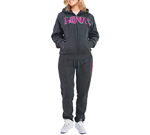 Women's 2 Piece Tracksuit Set Sport Outfits Sherpa Lined Zip up Hoodie & Pants...