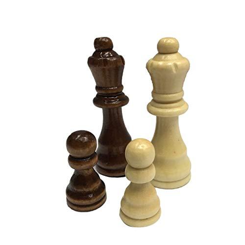 Madera Juego de ajedrez Rey 7.7cm 32 Piezas de ajedrez Figuras Peones Adultos Torneo de Juego de los niños de Juguete