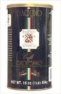 D'aquino Caffe Italian Coffee Espresso 1lb (Pack of 1) by D'Aquino
