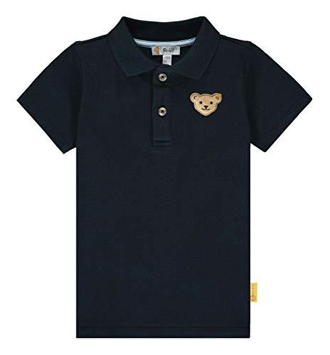 Steiff Baby-Jungen Poloshirt, Blau (Black Iris 3032), 98 (Herstellergröße: 098)
