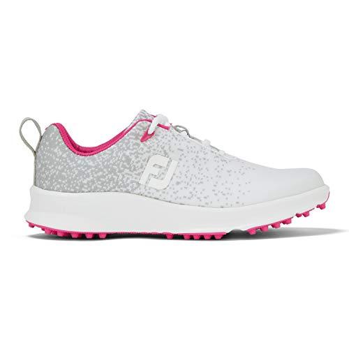 FootJoy Leisure, Zapatos de Golf para Mujer, Gris/Blanco/Rosa, 38 EU