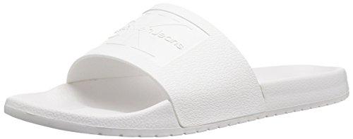 Calvin Klein Jeans Herren Vincenzo Jelly Peeptoe Sandalen, Weiß (Wht 000), 43 EU